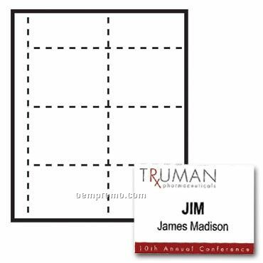 """Classic Name Tag Paper Insert - 3 Color (4""""X3"""")"""