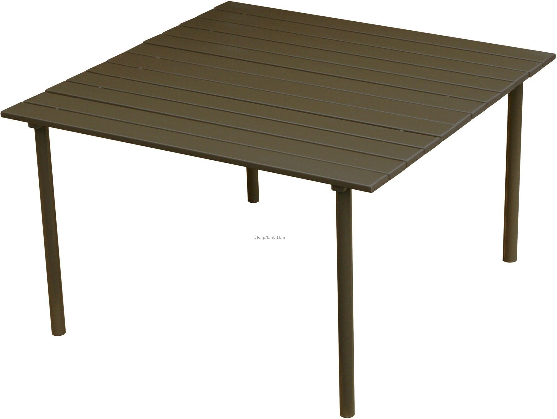 Collapsible Folding Low Brown Aluminum Table With Black Carry Bag