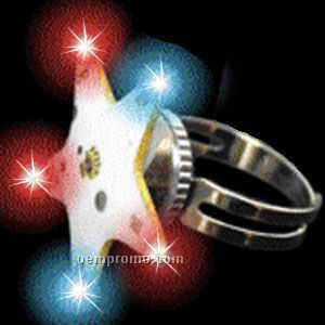 Flashing Star Light Up Ring