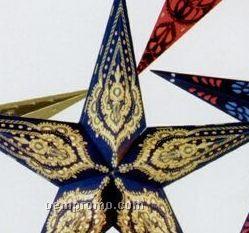 Hand-made Indian Star Shade Lantern (Purple/Gold)