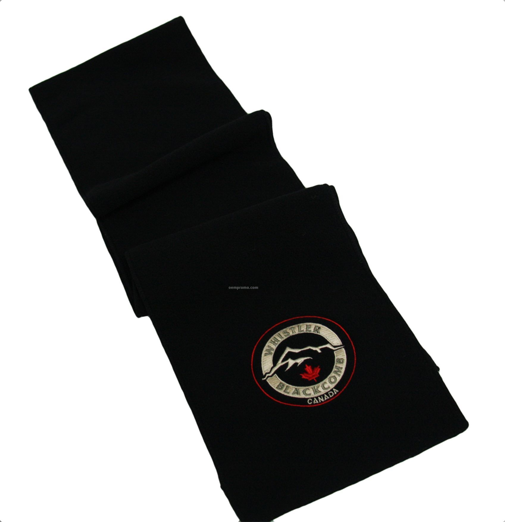 Black Eco Fleece Scarf