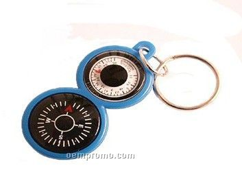 Key Tag With Compass And Thermometer