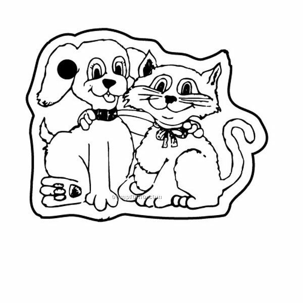 Stock Shape Collection Dog And Cat Key Tag