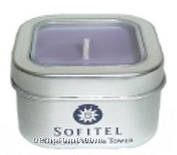 8 Oz. Soy Travel Candle - In Square Window Tin