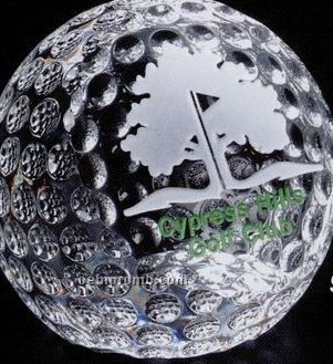 """Sports Gallery Crystal Clipped Golf Ball Sports Award (2 3/8"""")"""