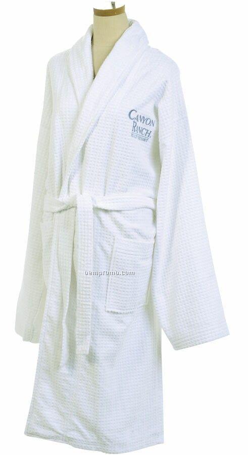 Velour Checkered Robe - Embroidered