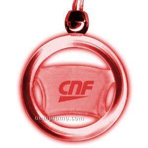 Blinking Steering Wheel Light Up Pendant Necklace W/ Red LED