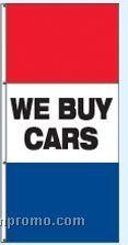 Double Face Stock Message Interceptor Drape Flags - We Buy Cars