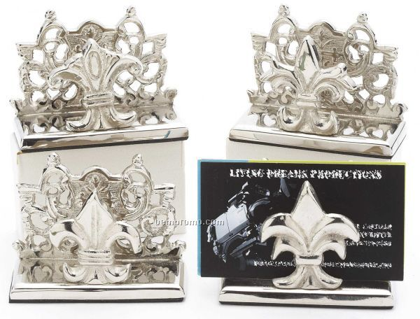 Fleur De Lis Desktop Business Card Holders China Wholesale