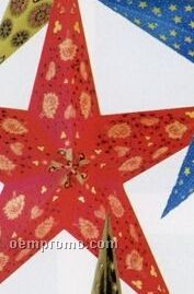 Hand-made Indian Star Shade Lantern (Bright Red)