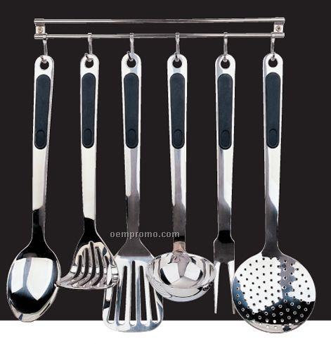 7 Piece Ergo Kitchen Utensil Set W Stand