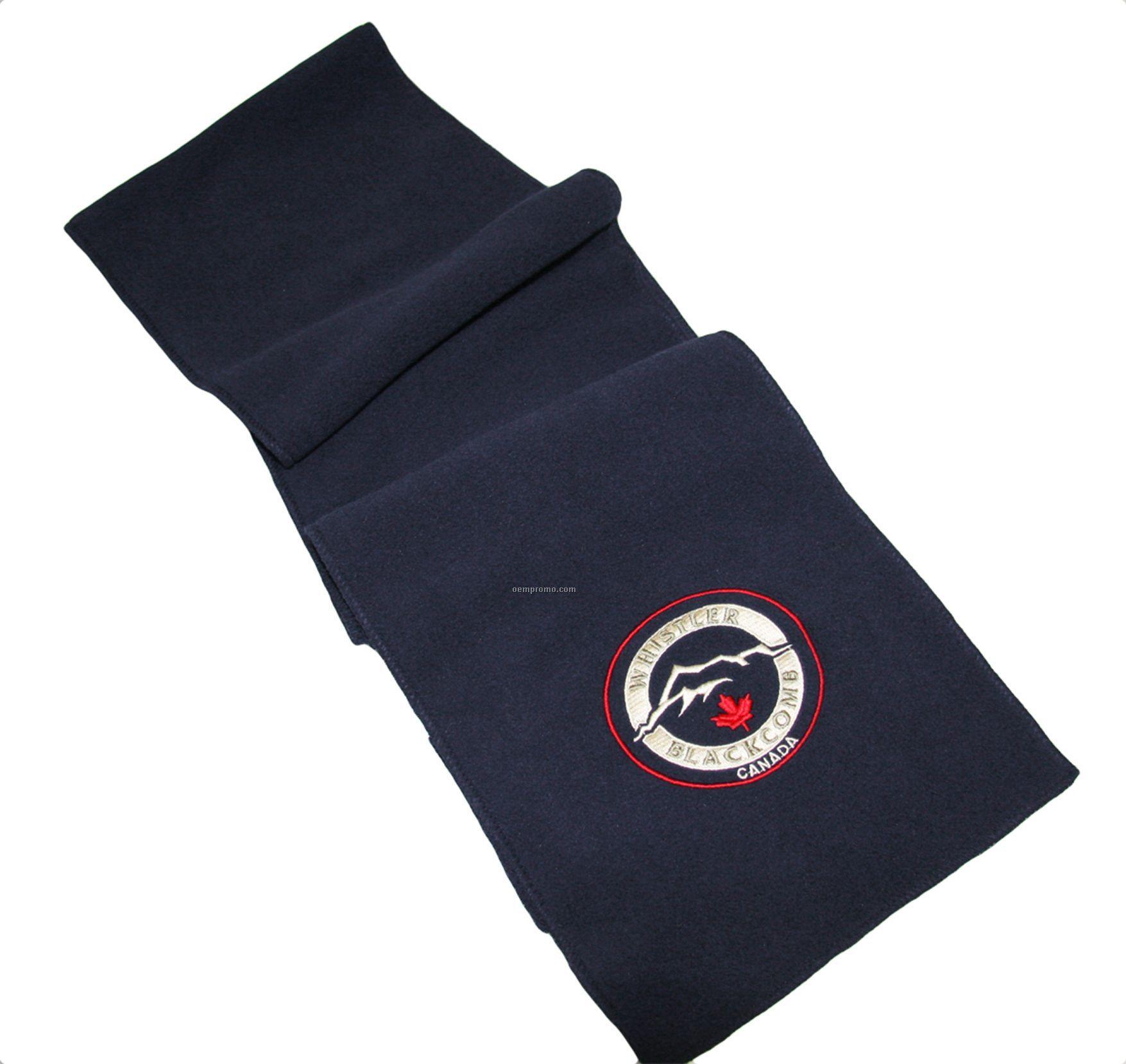 Navy Blue Eco Fleece Scarf