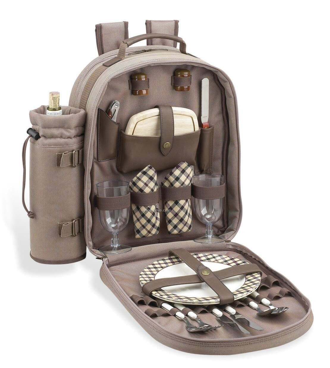 New Hudson Picnic Backpack Cooler For Two.