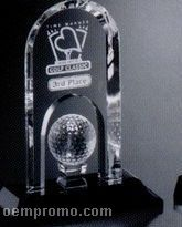 "Sports Gallery Crystal Springfield Golf Award (8 1/2"")"