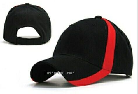 6 Panel Constructed Sports Double Side Trim Cap (One Size Fits Most)
