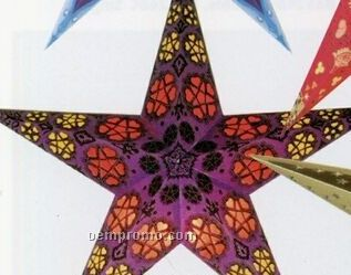 Hand-made Indian Star Shade Lantern (Purple/Red/Yellow)