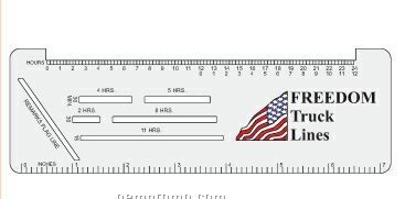 Trucker Logbook Ruler (Raised Edge)