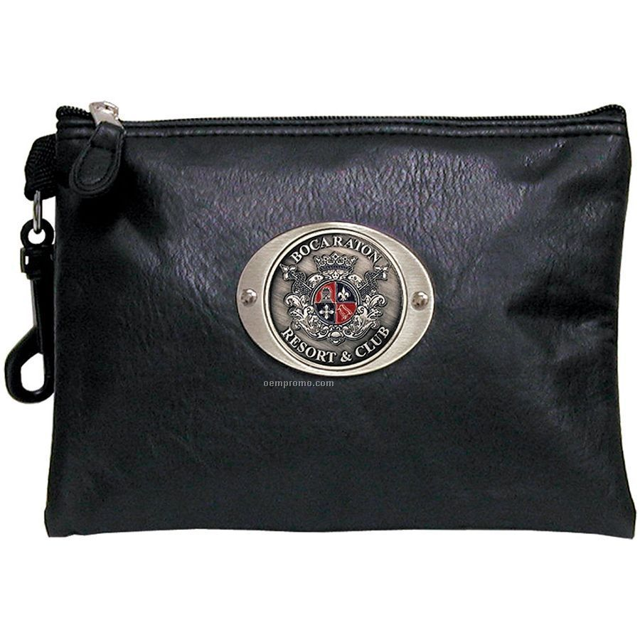 Vinyl Zippered Pouch W 2 Quot Logoed Medallion China