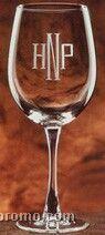Wine Glass, Diamond Etch Printed