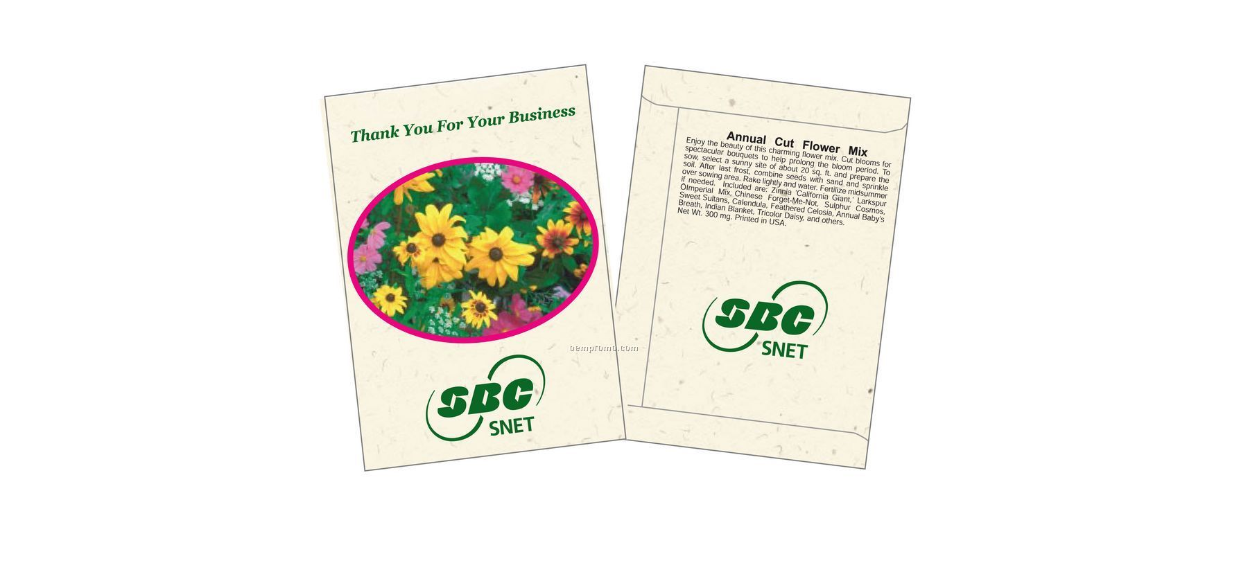 Annual Cut Flower Mixture Seed Packet (1 Color)