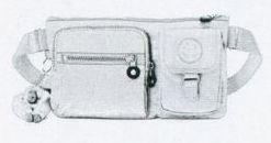 Kipling Presto Waist Pack W/ Multiple Zipper Pocket