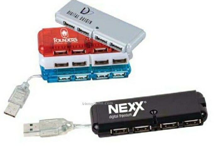 Mini USB 4-port Hub 2.0