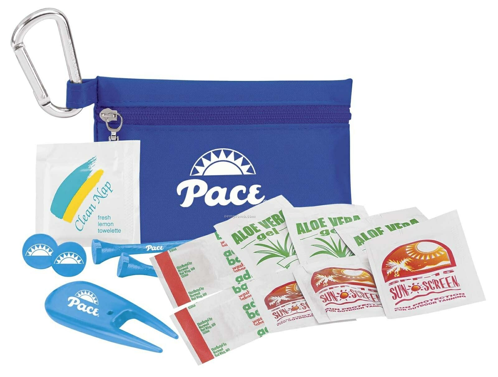 """Tee Off Golfer's Sun Protection Kit With 3 1/4"""" Tees"""