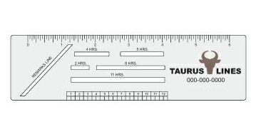 Trucker Logbook Ruler (Rectangle)