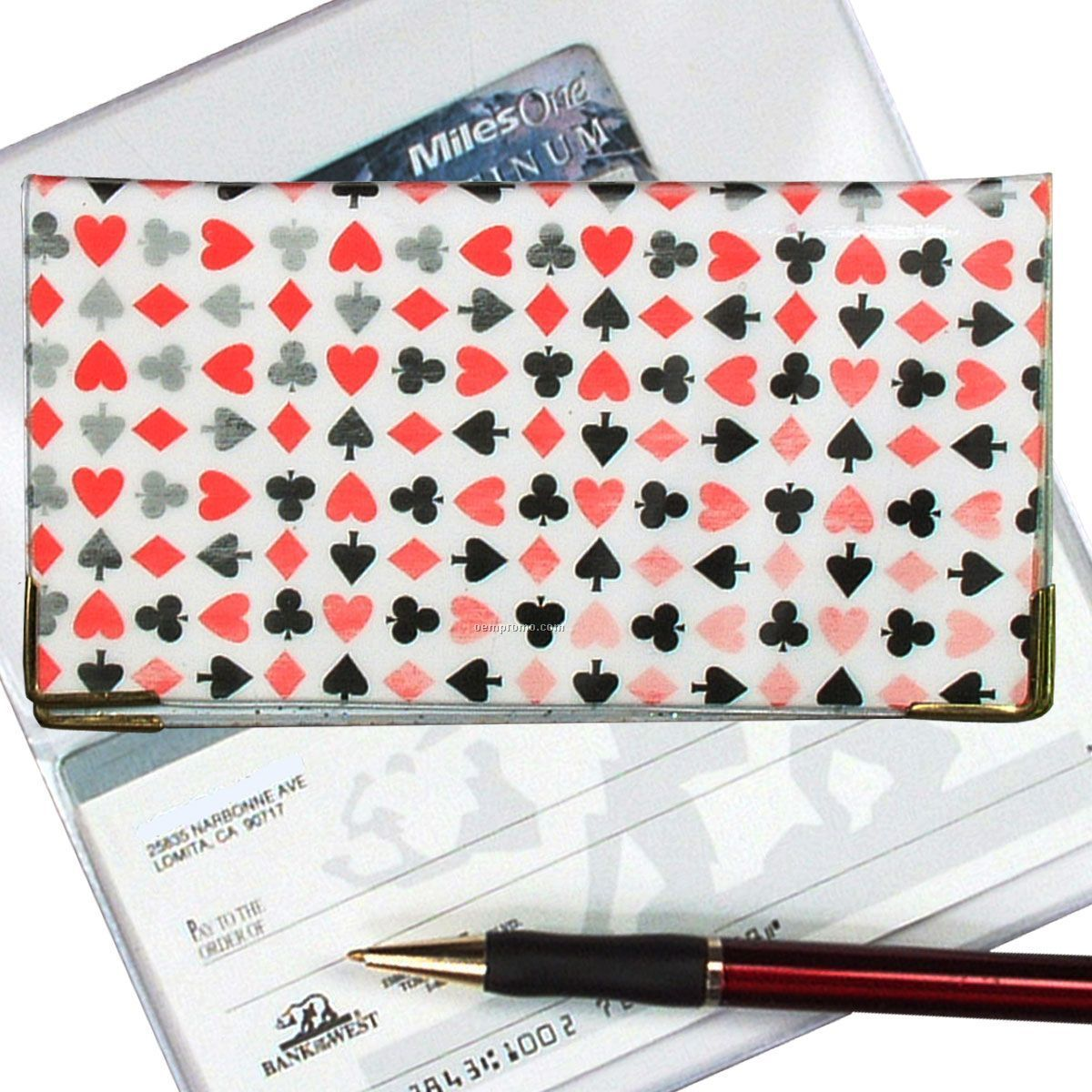 3d Lenticular Checkbook Cover (Playing Card Symbols)