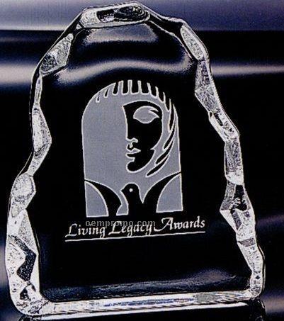 Distinctive Gift Gallery Crystal Carved Vertical Iceberg Award