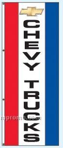 Double Face Dealer Interceptor Drape Flags - Chevy Trucks