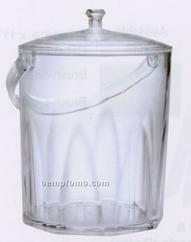Faceted Acrylic Ice Bucket With Lid & Handle (2.25 Quart)