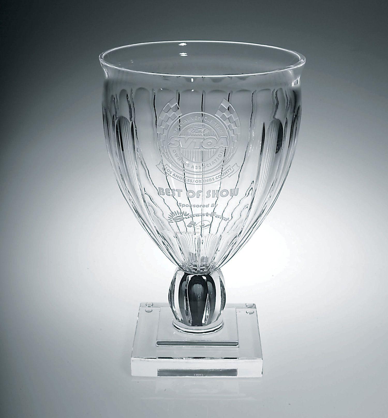 Tapered Column Vase Award W/ Square Base