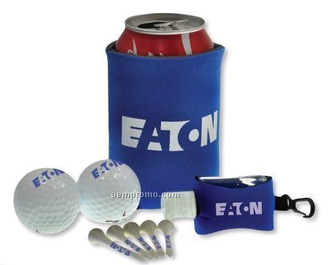Tethered Gel Hand Sanitizer Golf Kit W/ 2 Authoritee Golf Balls