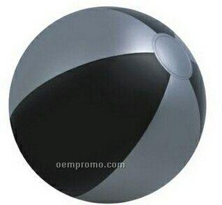 "16"" Inflatable Alternating Black & Silver Beach Ball"