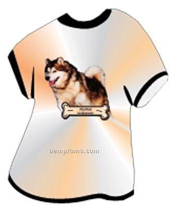 Alaskan Malamute Dog T Shirt Acrylic Coaster W/ Felt Back