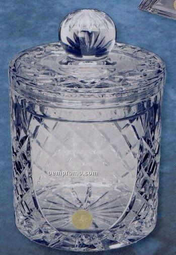 Crystal Medallion Barrel - Silver Medallion