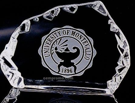 Distinctive Gift Gallery Crystal Carved Horizontal Iceberg Award