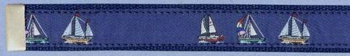 Embroidered Pattern Belt With Adjustable Leather Tip (Sloop)