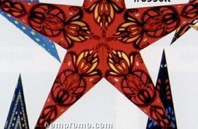 Hand-made Indian Star Shade Lantern (Red/Black)