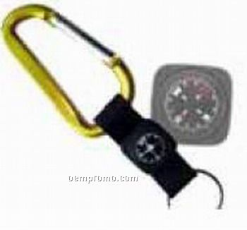 Key Chain With Compass And Thermometer