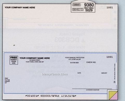 "Laser Multipurpose Check - 3 Part (8 1/2""X7"")"