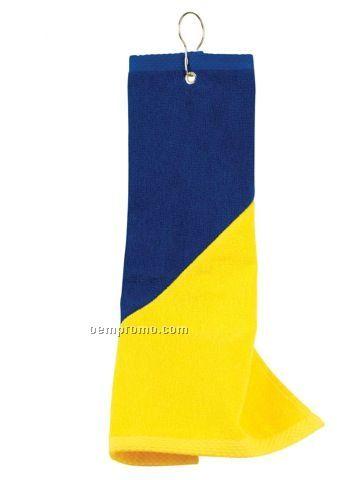 The Liverpool 2 Tone Hook & Grommet Golf Towel