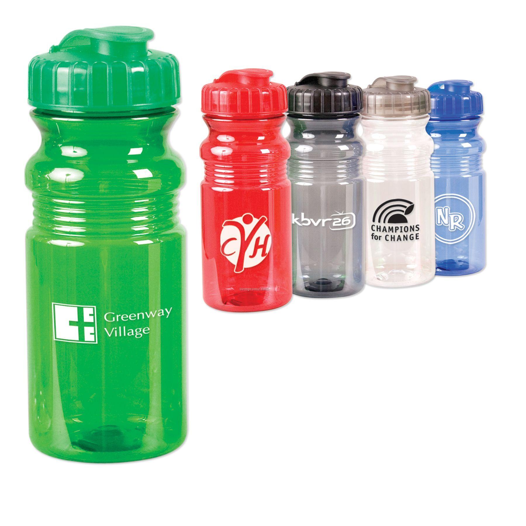20 Oz. Translucent Sport Bottle With Snap Cap