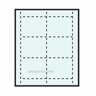 "Blank Classic Name Tag Color Stock Paper Insert (4""X3"")"