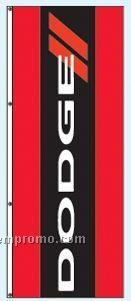 Double Face Dealer Interceptor Drape Flags - Dodge