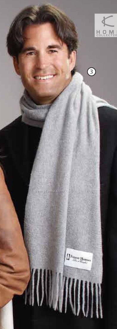 Heather Gray 100% Pure Cashmere Scarf