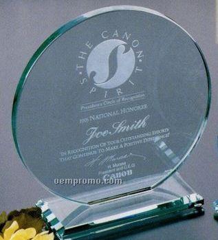 "Jade Gallery Crystal Cromwell Circle Award (8"")"