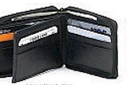 Men's Lamb Skin Zip Around Wallet & Middle Flap