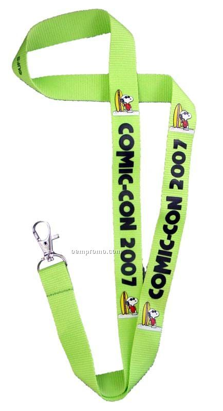 "Polyester Lanyards With Screen Print & Metal Hook (36""X5/8"")"
